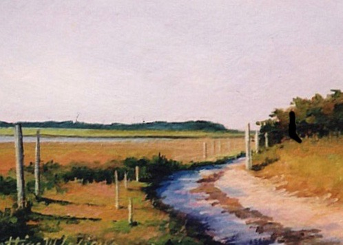 """Road From Saquish"" by Bettina Lesiur, Duxbury artist"