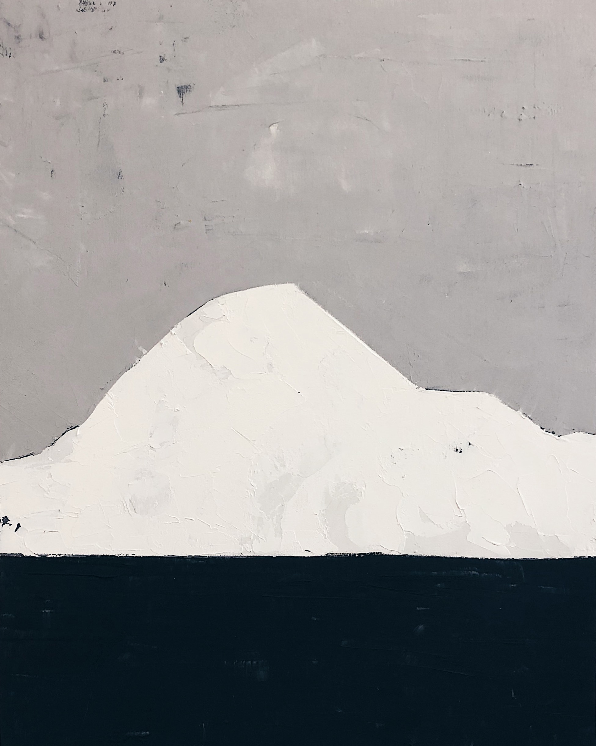 iceberg no. 1   oil and cold wax on panel 14in x 18in  SOLD