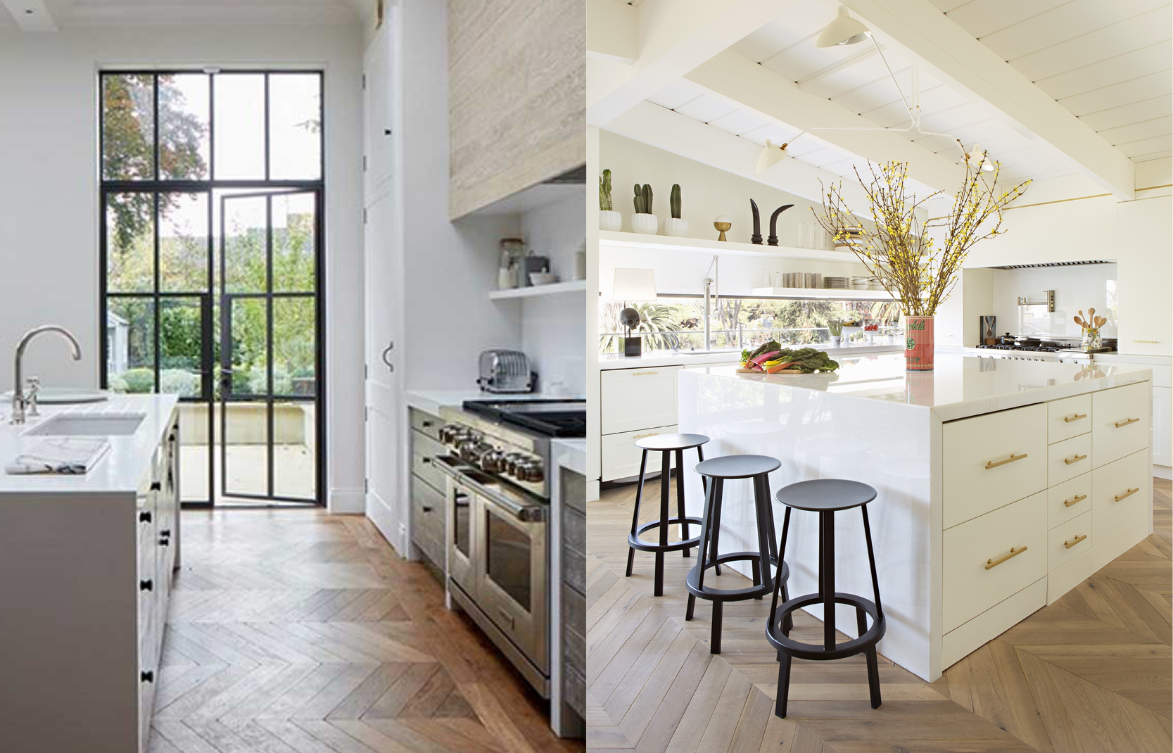 LEFT:  House & Garden  / RIGHT:  Architectural Digest