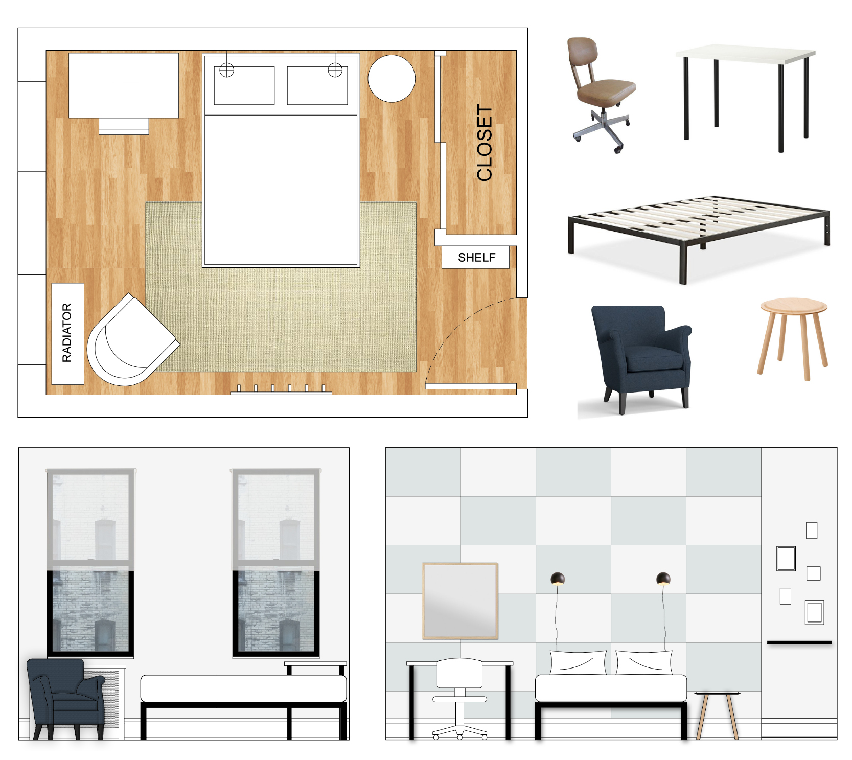 FLOOR PLAN AND RENDERINGS