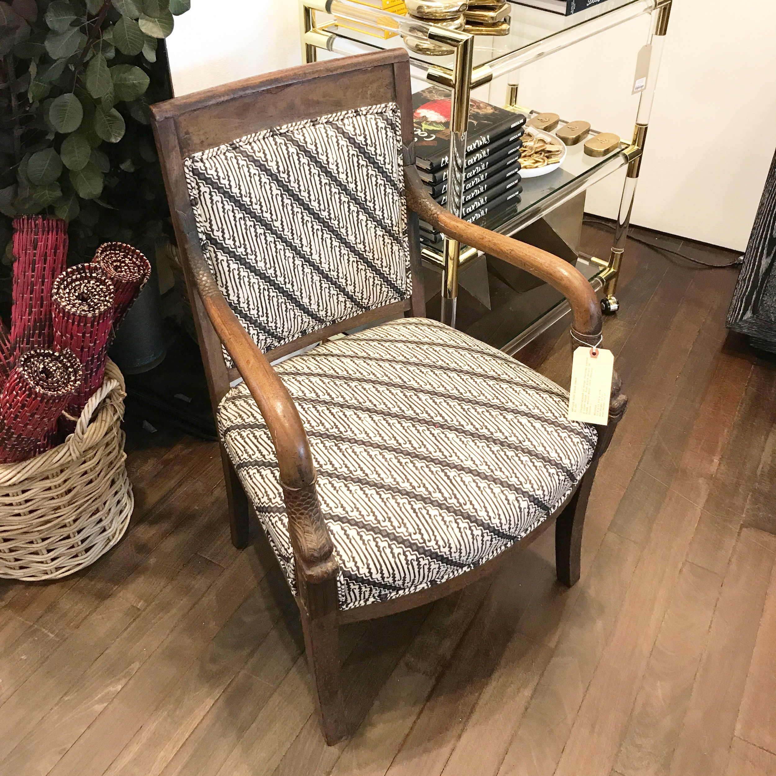 Antique Fish Scale Chair -$2,495 |  GREAT FOR: An accent chair in a foyer or living room