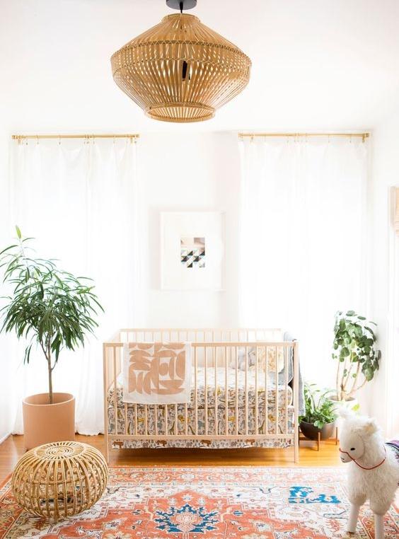 IKEA crib modern boho nursery