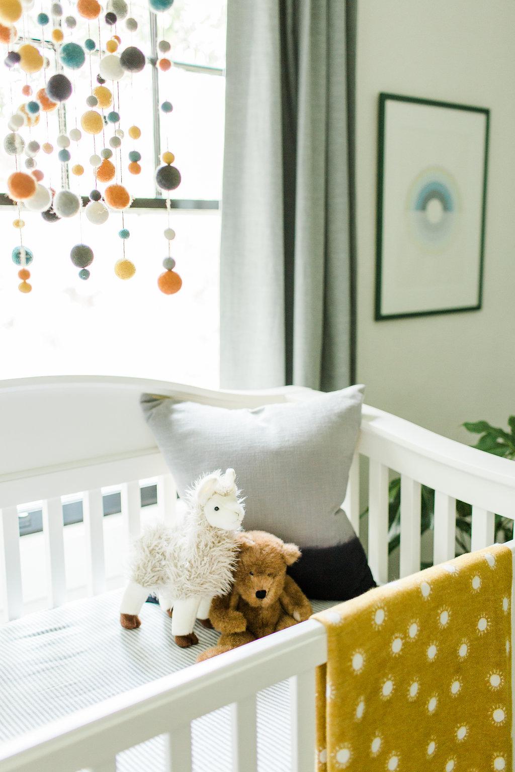 modern boys nursery