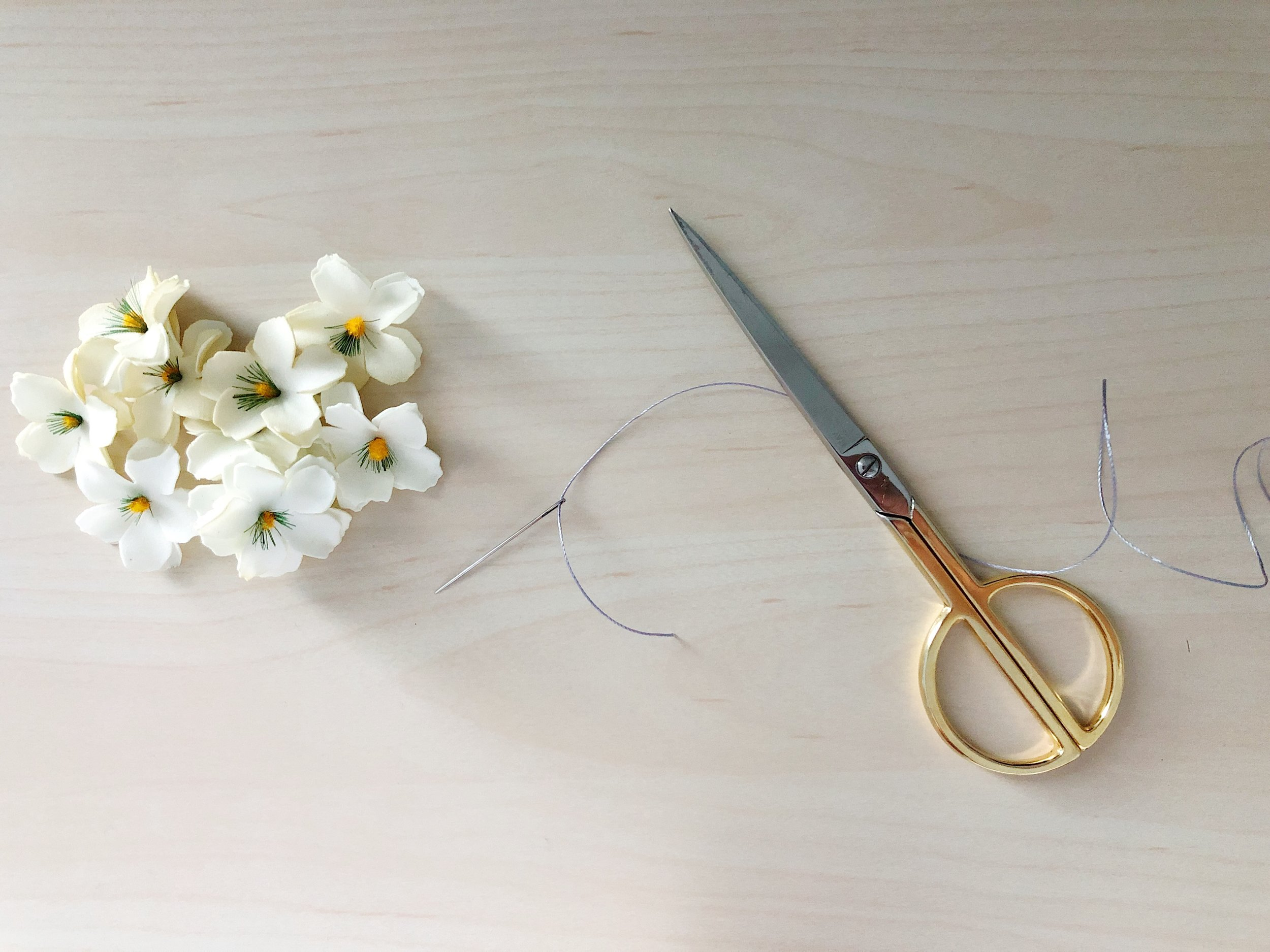 I used the same flowers to complete a single strand