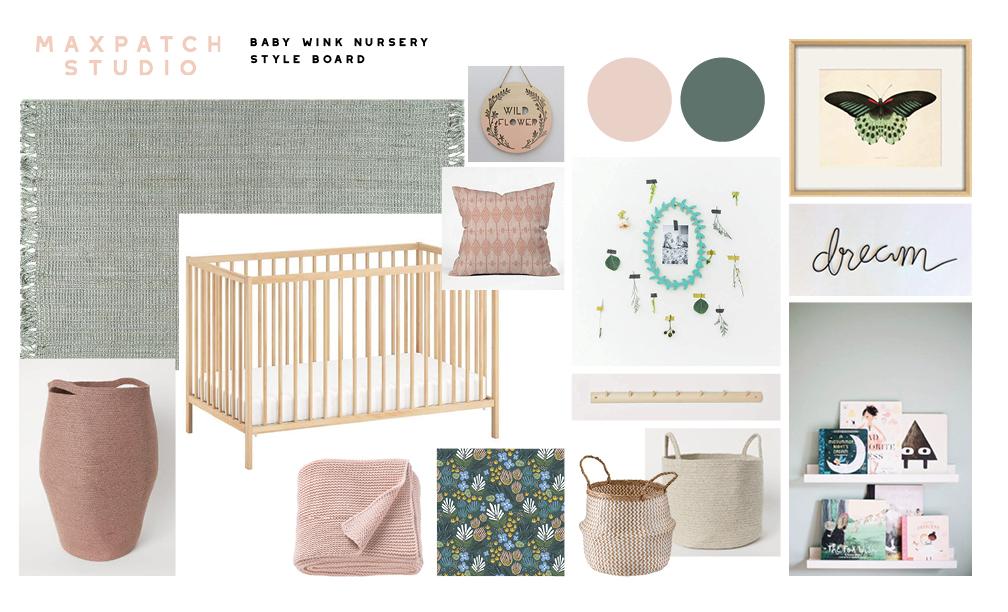 floral nursery style board