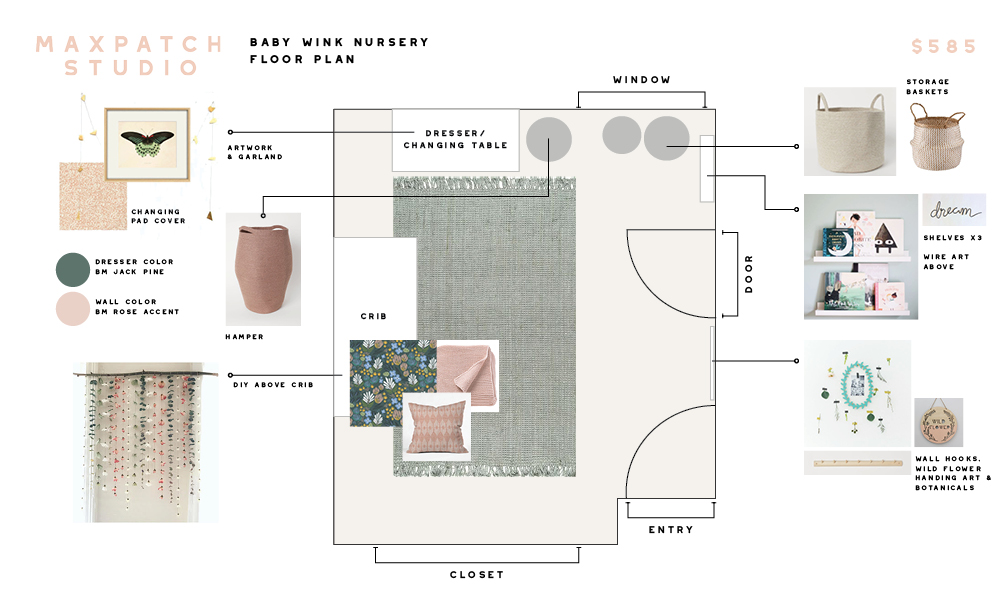 floral nursery floor plan