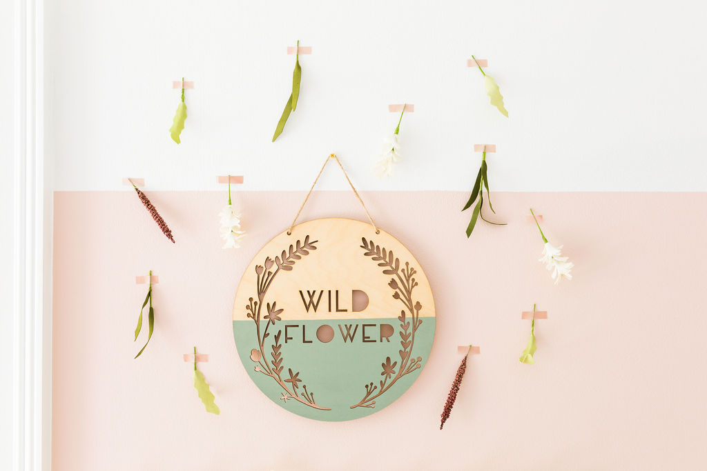 wildflower wood wall art