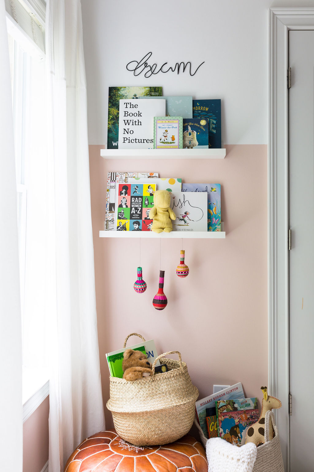 dream nursery decor nursery bookshelves