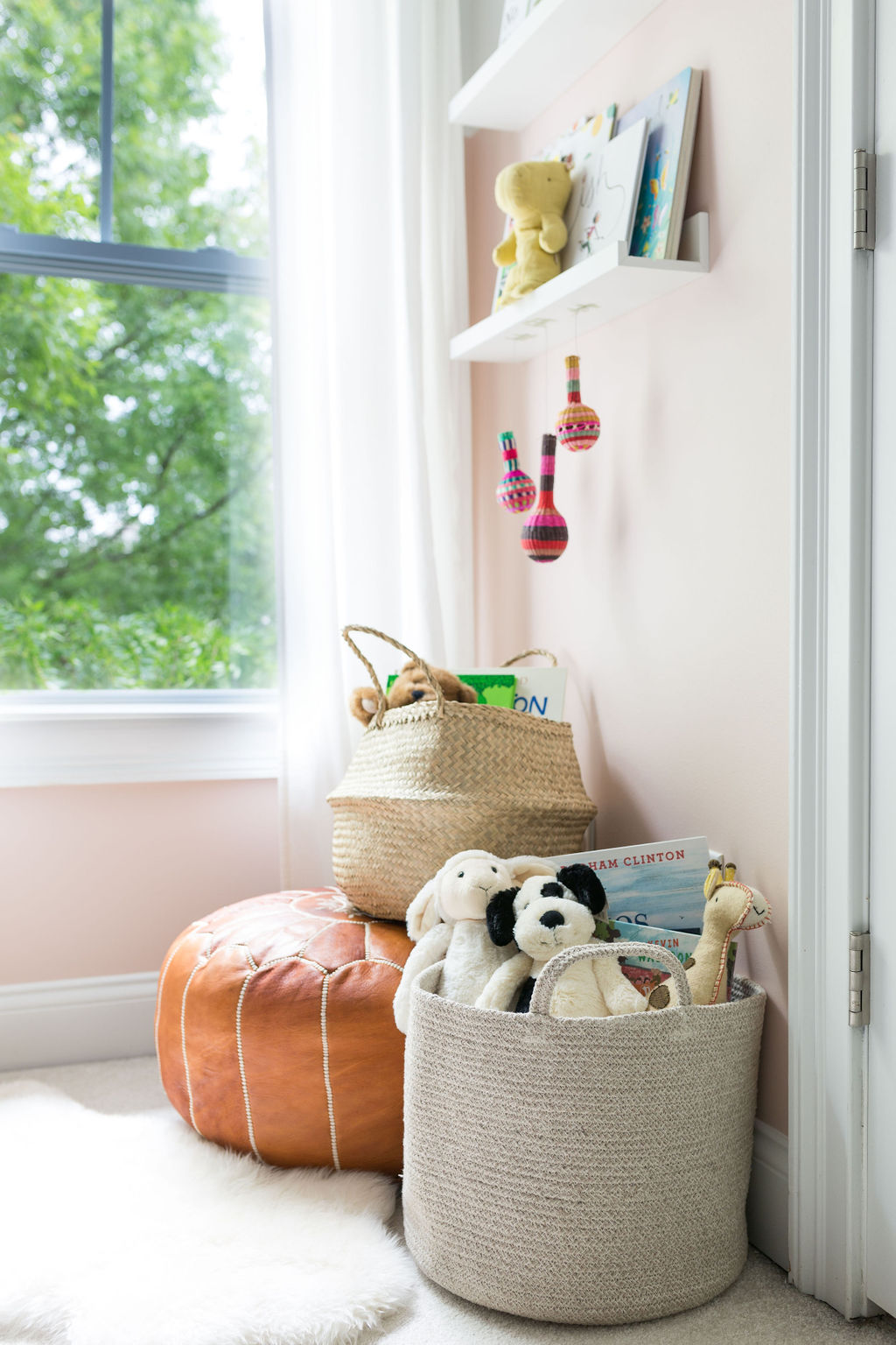 gender neutral boho nursery