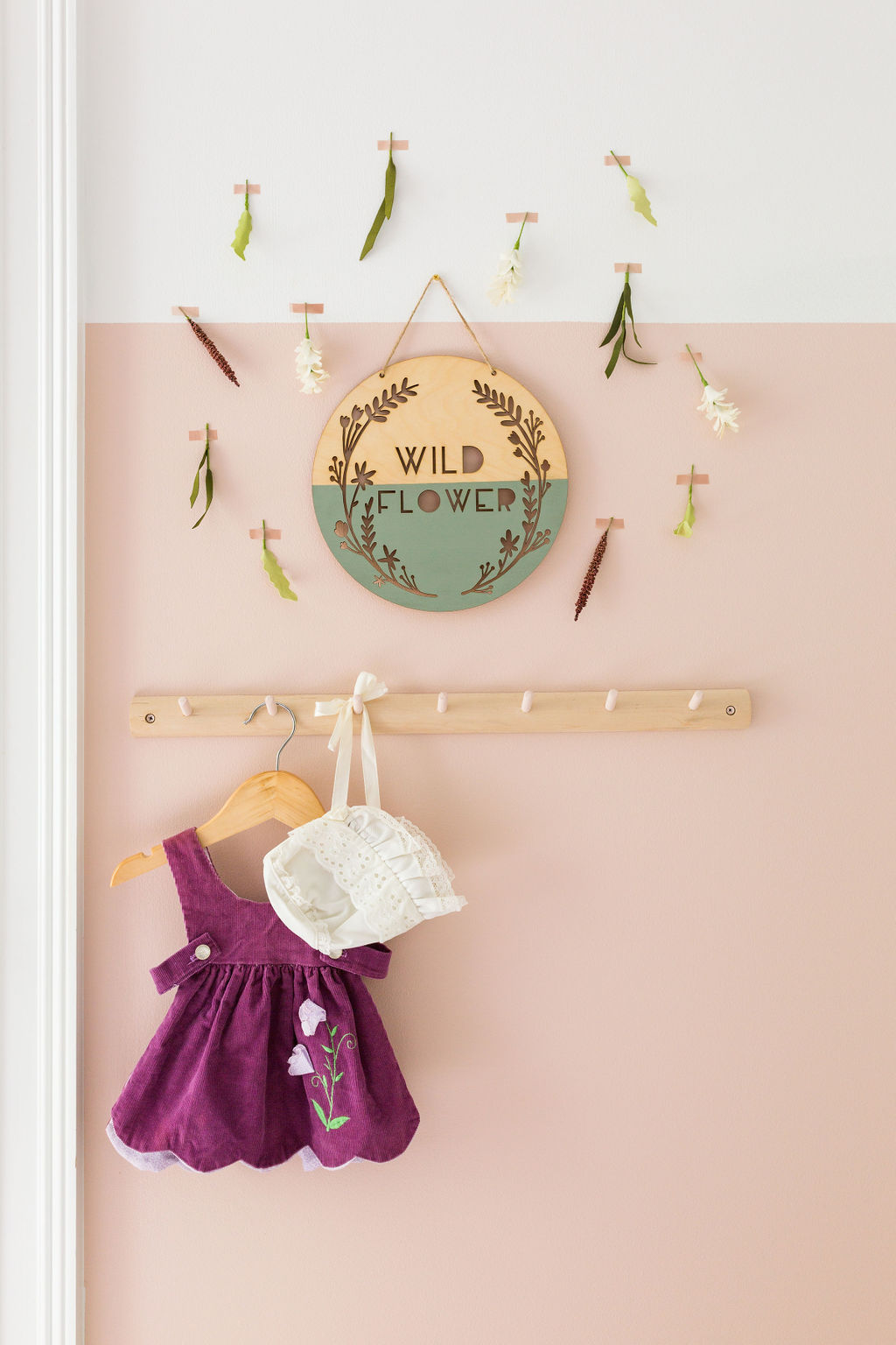 wildflower wall hanging floral nursery