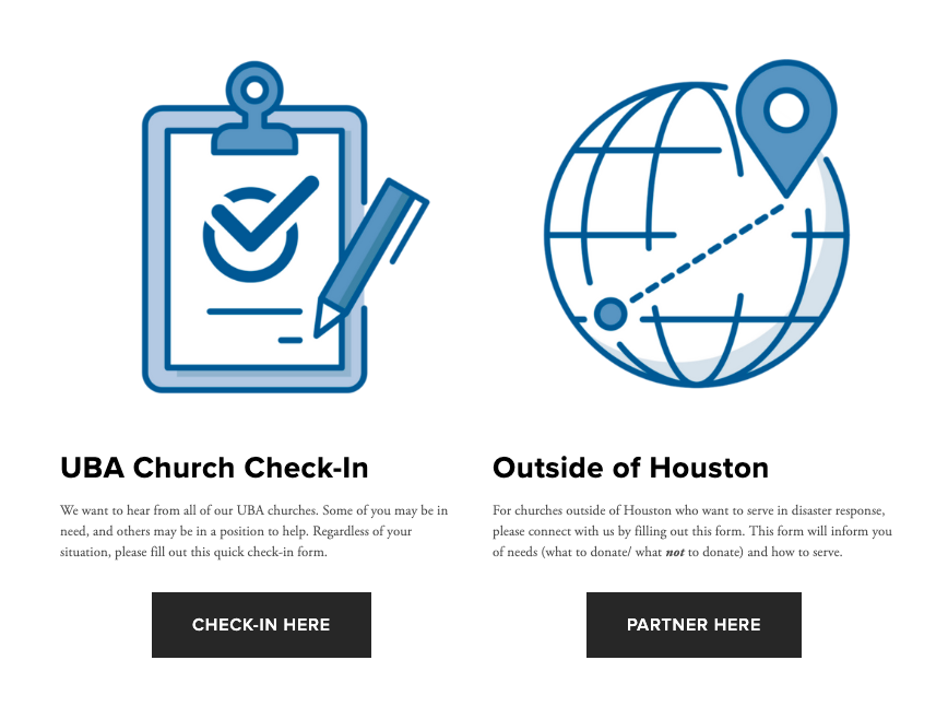 Update your church's status, ask for help, and offer help with our new disaster response webpage.