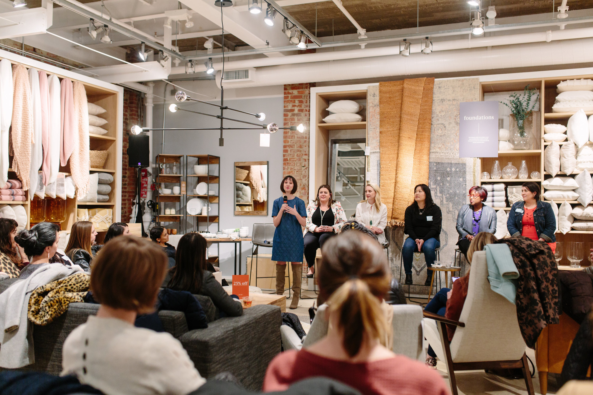 PANEL HOSTED BY WEST ELM