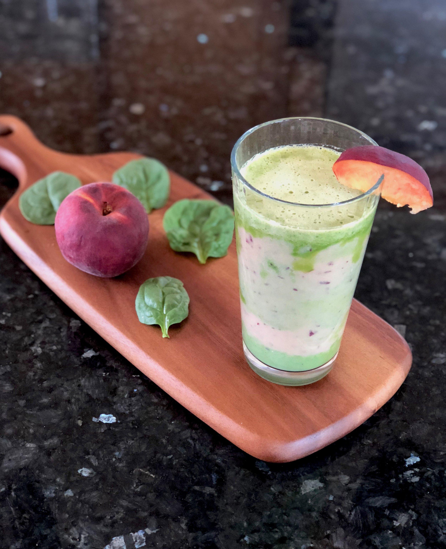Peach Spinach Simply Fresh Smoothie