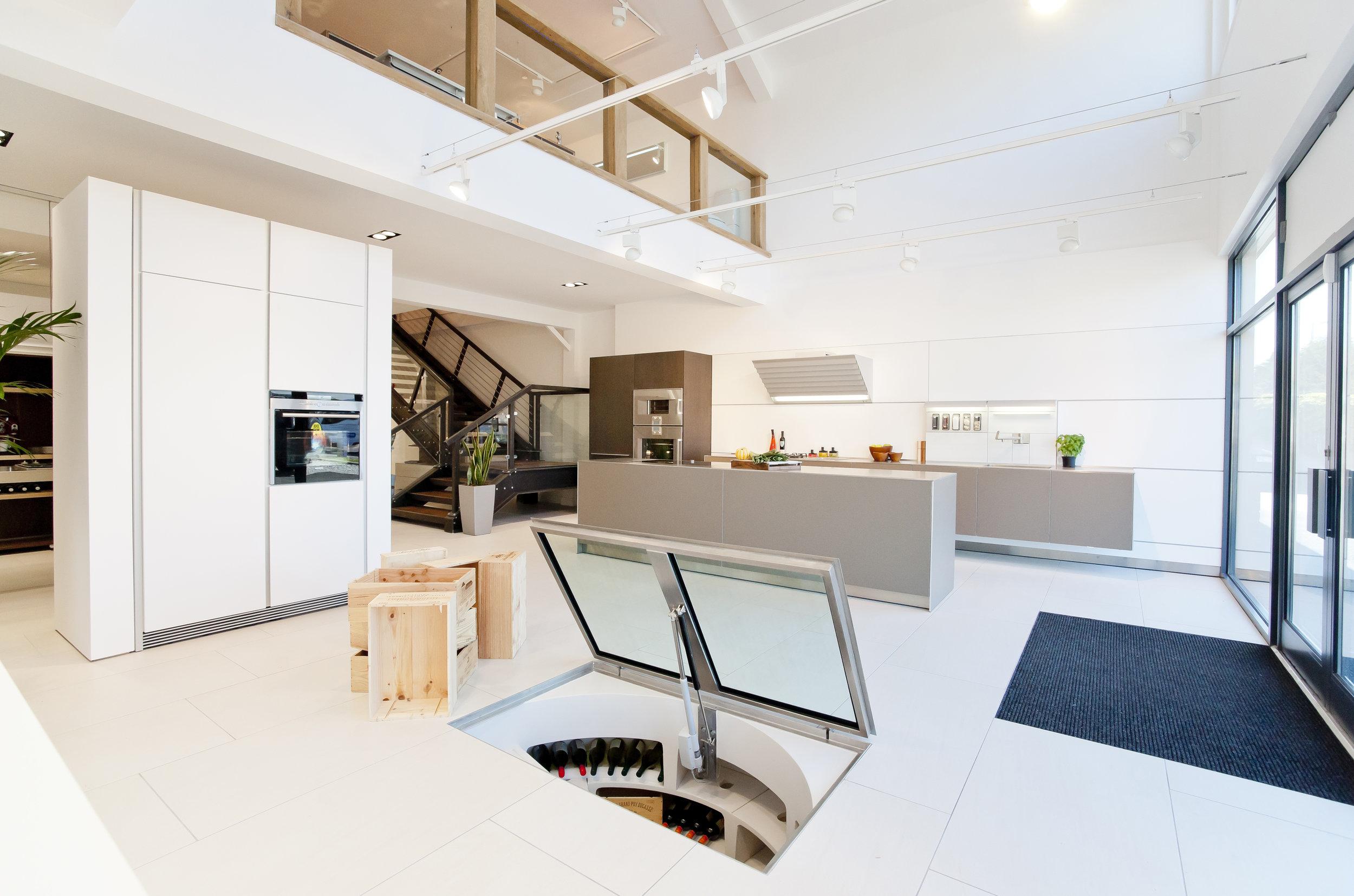 White Spiral Cellar at Sapphire Living Space Showroom 1.jpg