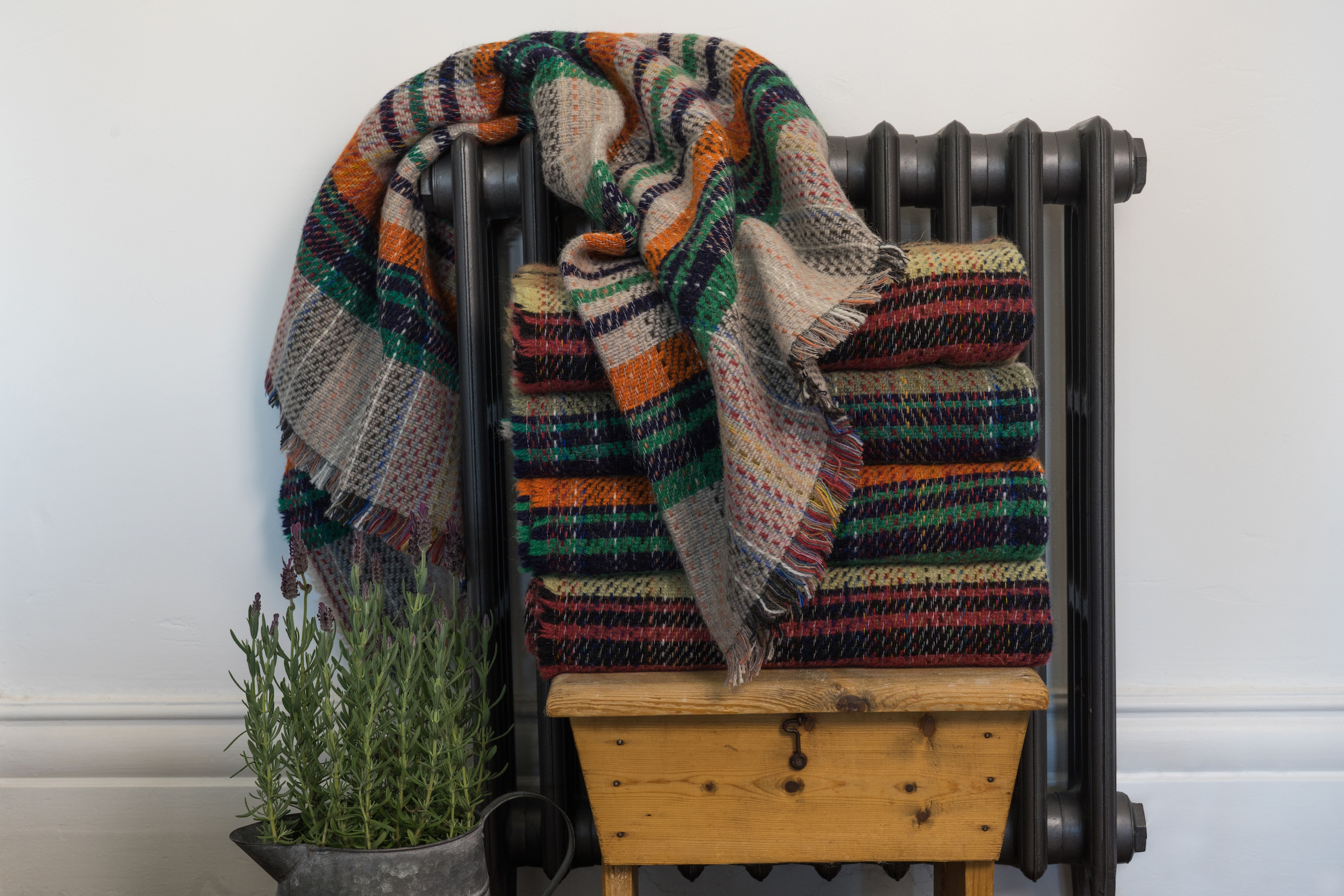 lavender and bone tweedmill textiles recycled throw.jpg
