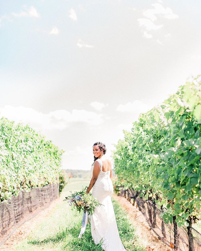 """Walking into this wedding weekend feeling so grateful for our #roseandlilyintern @yokathardy the feature on @100_layercake (found when you search """"Romantic Farm Wedding Ideas from the Big Fake Wedding DC"""" on their website) AND the start to our Fall Wedding Season! 🎉  The past few weeks have been so full but so good!  What are you thankful for as you start your weekend?  Event: @thebigfakewedding  Day-of Coordination: @roseandlilyevents  Photo: @mikaelamariephoto  Venue: @stonetowerwinery   @stonetowerweddings  Florals: @westvirjeni  Dress: @grace_and_ivory_  Hair: @thestylistabroad  Makeup: @laurahenderson_makeup  Jewelry: @leljewelry"""