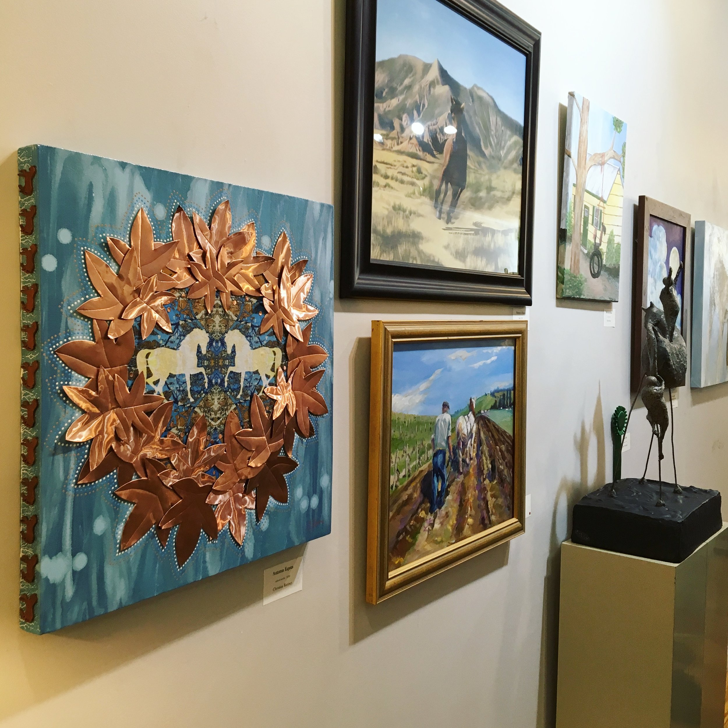 for the love of the horse  (juried show)  tryon painters & sculptors tryon, nc september - october 2018