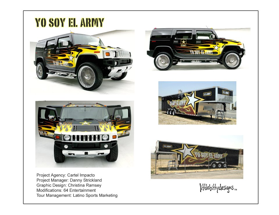 graphic design commission for the u.s. army (c.2002)