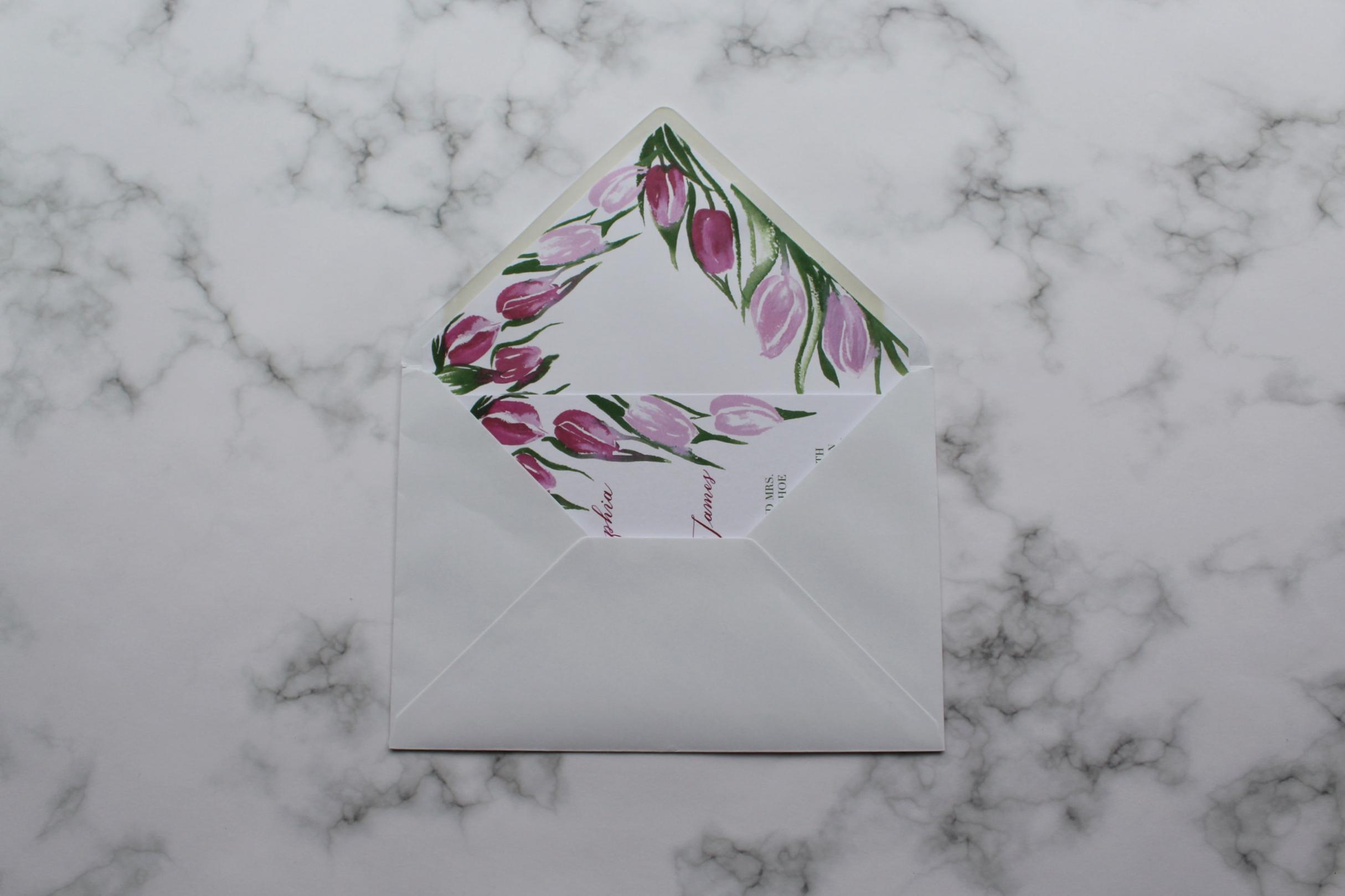 Tulips invitation in envelope.jpg