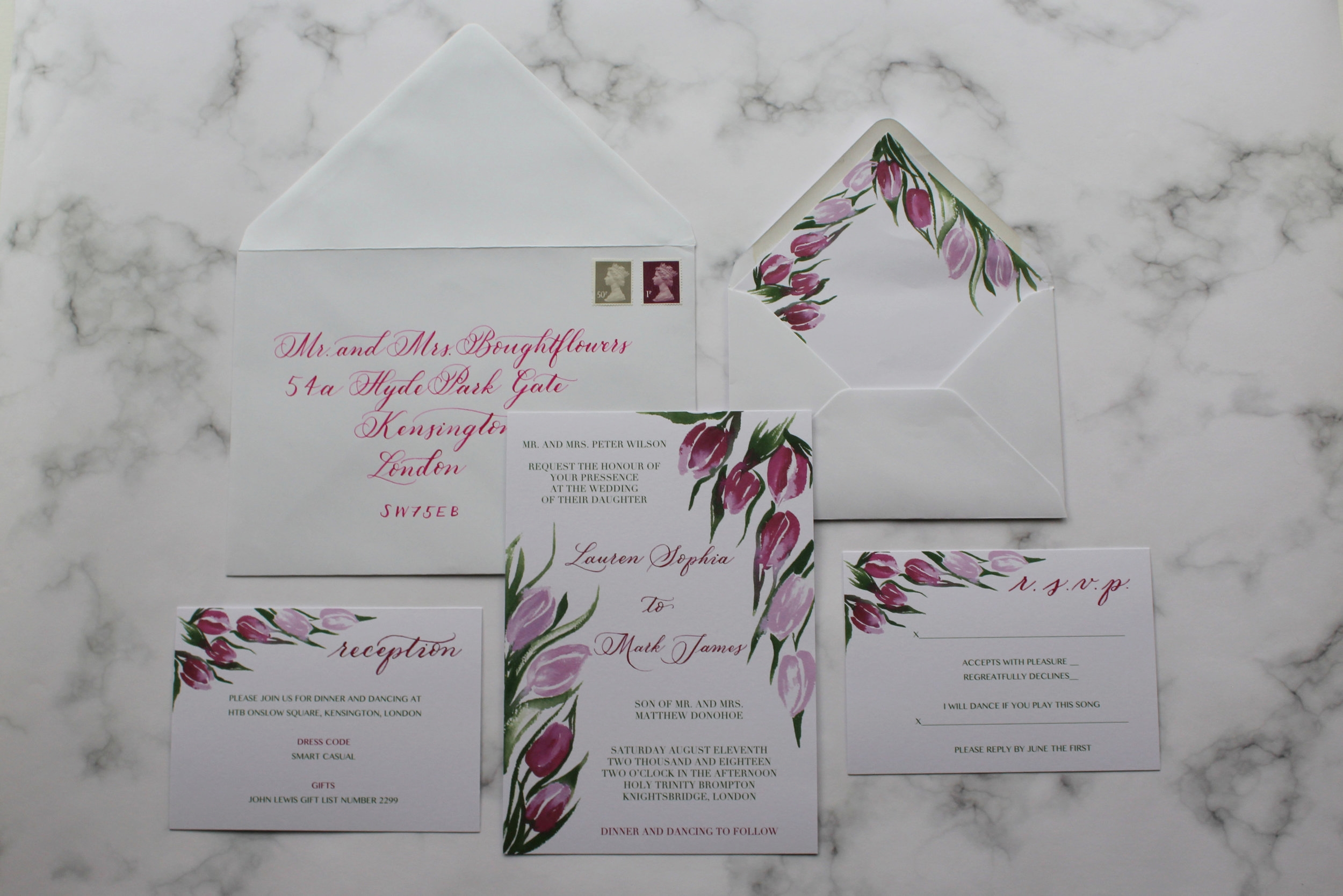 Tulip suite with envelope calligraphy.jpg