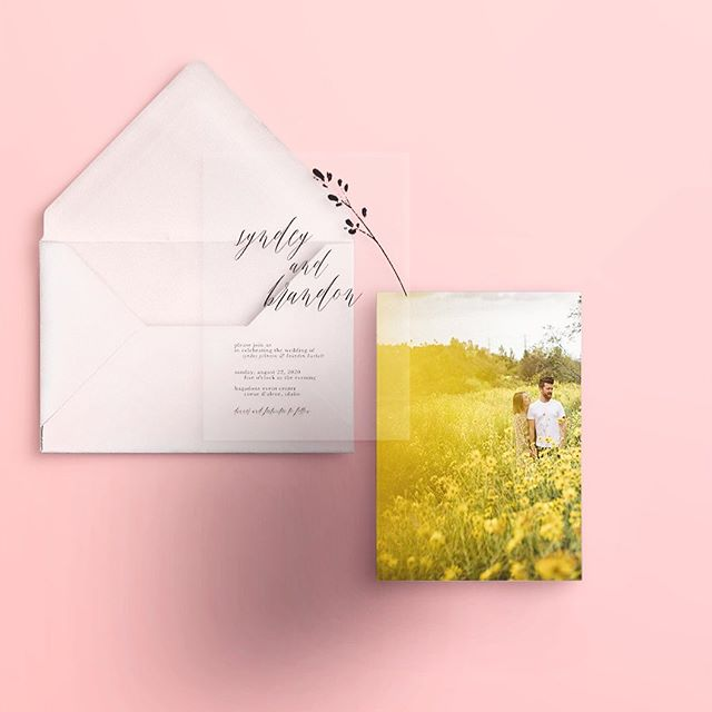new semi-custom wedding suites at mango ink! acrylic (shown here) or vellum overlays add such freshness to wedding invitations. have a photo keepsake or unique design as your backer to make it your own. 2020 couples, we are ready for you! . . . .  #stationerydesigner #weddinginvites #custominvitations #customstationery #papergoods #prettypaper #weddingpaper #paperie #weddingstationery #fortheloveofpaper #weddingpaper #invitationsuite #weddingstationer #invitationdesign #acrylicinvitation #mangoink #dailydoseofpaper