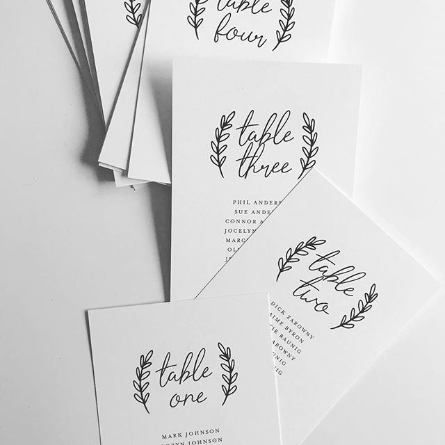 all the stationery design needs for your wedding day! table numbers with guests names printed on each one, seating charts, bar menus, head table place cards... coordinating with your wedding invitations or any other inspiration. ✨ . . . .  #stationerydesigner #customstationery #papergoods #prettypaper #weddingpaper #paperie #weddingstationery #fortheloveofpaper #weddingpaper #weddingstationer #invitationdesign #dailydoseofpaper #dayofweddingstationery