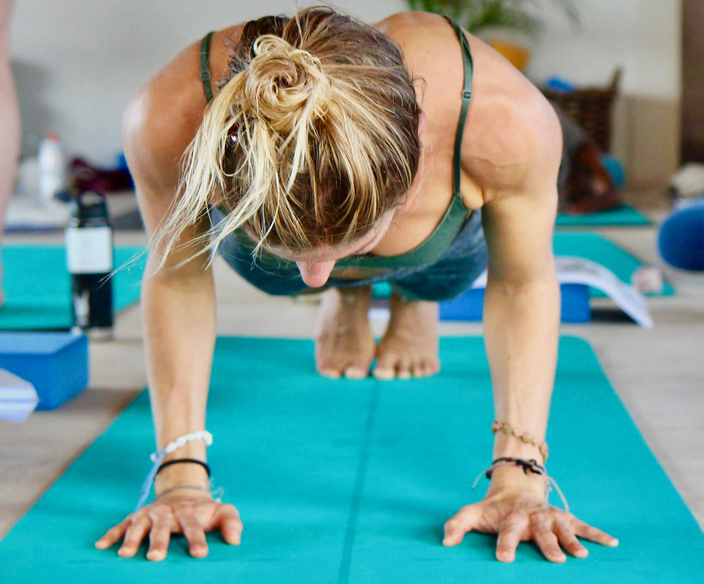 Yoga Pushup Stance