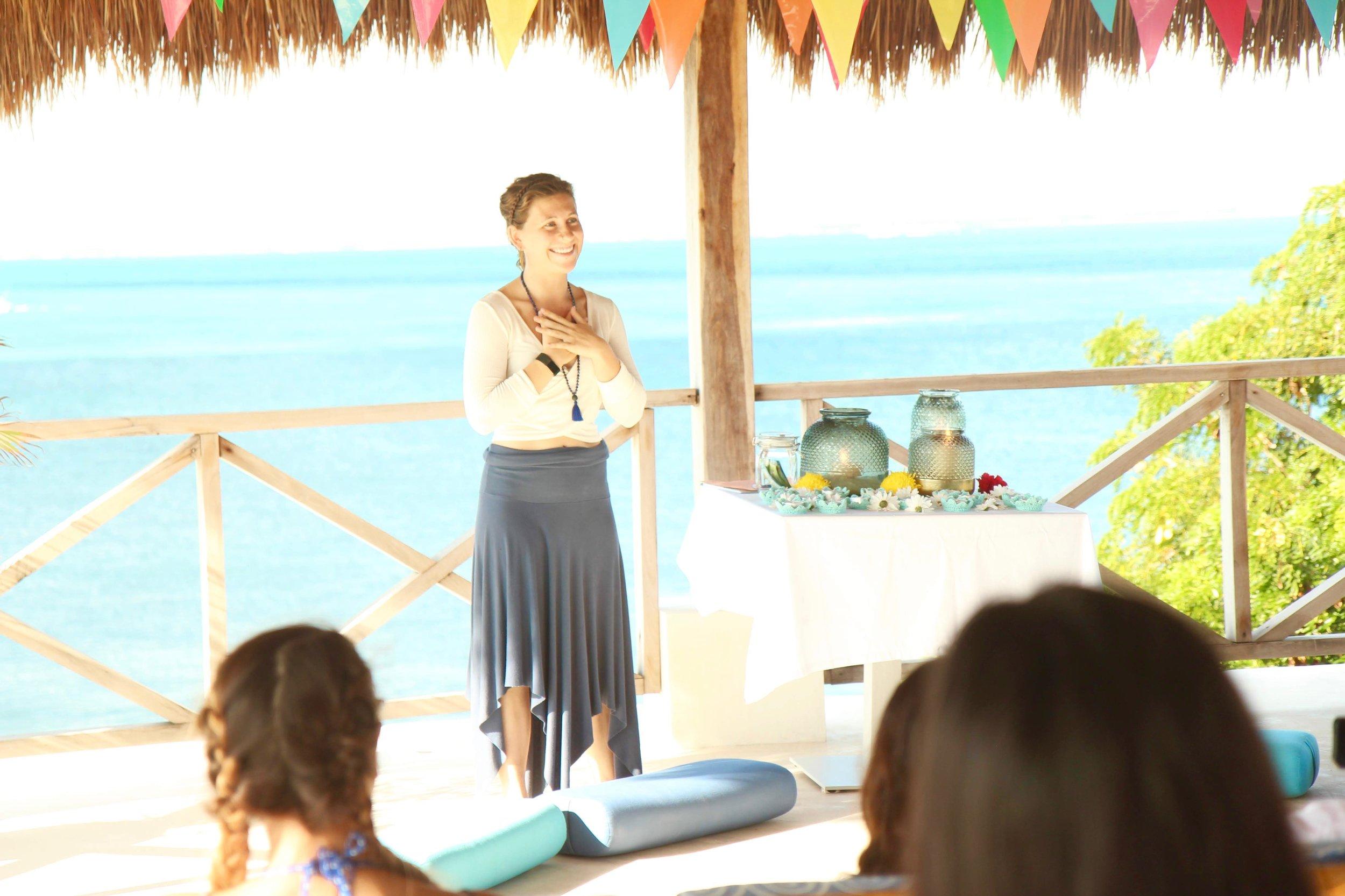Coco B Yoga Teacher Lecture