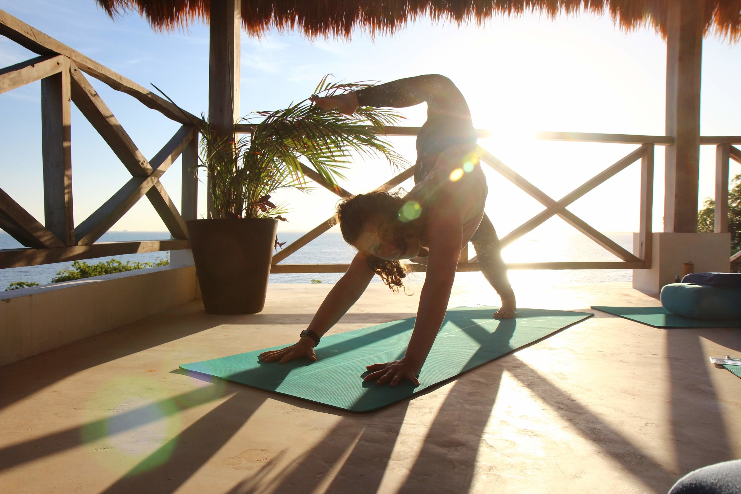 Coco B Yoga Scorpion Pose