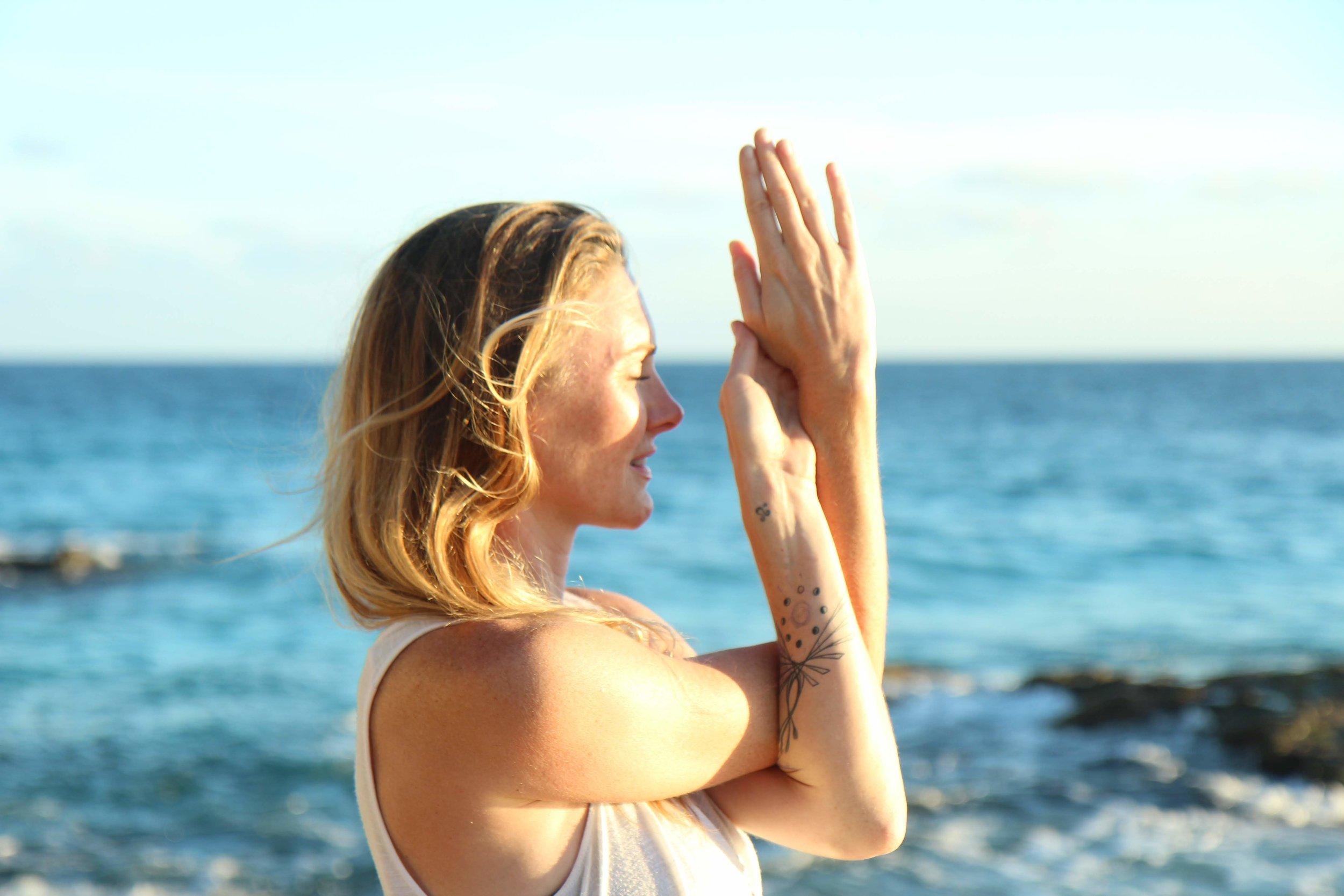 Coco B Yoga Eagle Arms Pose
