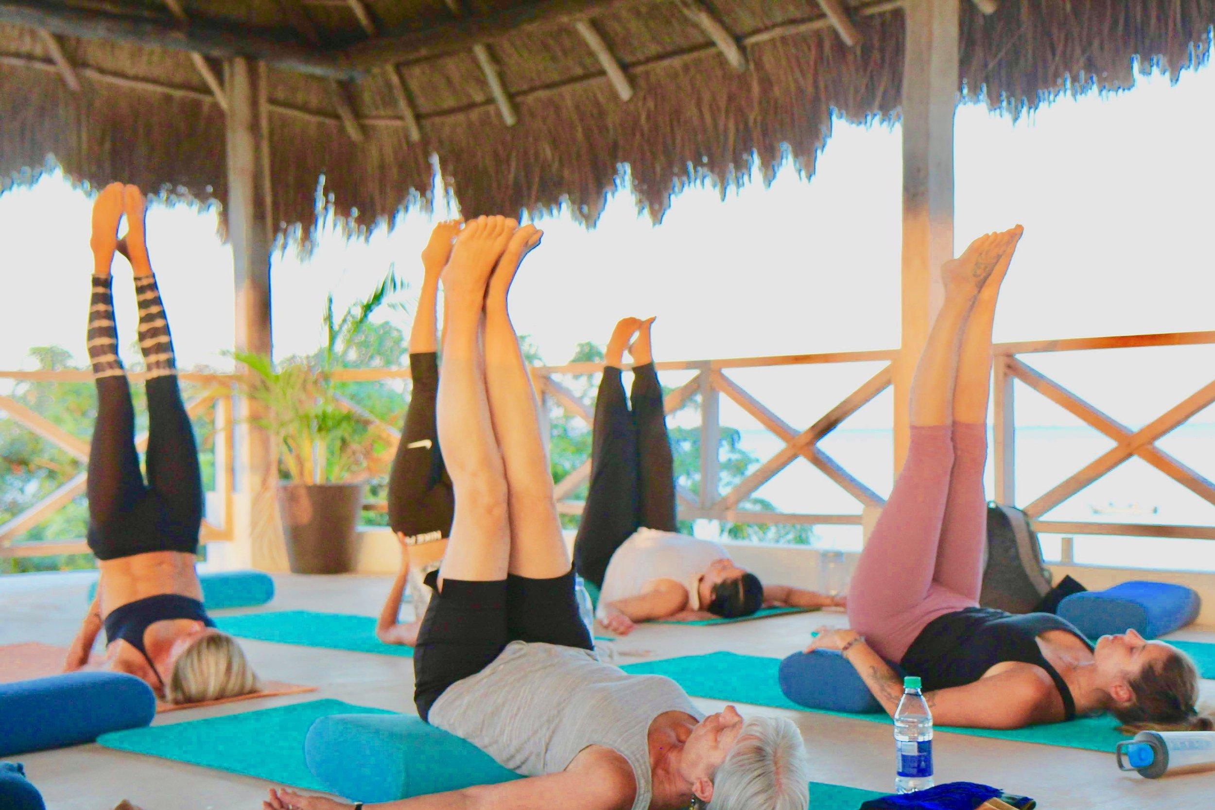 Coco B Yoga Group Viparita Karani Pose