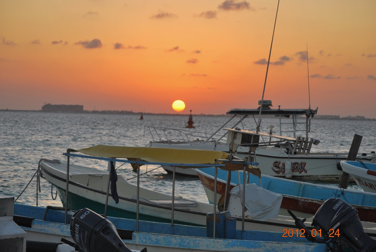 Isla Mujeres Dock Yard Sunset