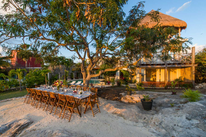 Casa Coco Exterior Dining Sunset