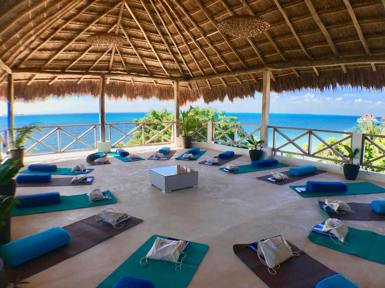 Casa Coco Yoga Palapa Mats Prepped