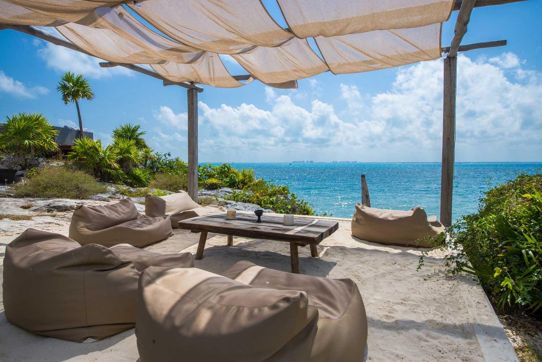 Casa Coco Beach Lounge with Bean Bags