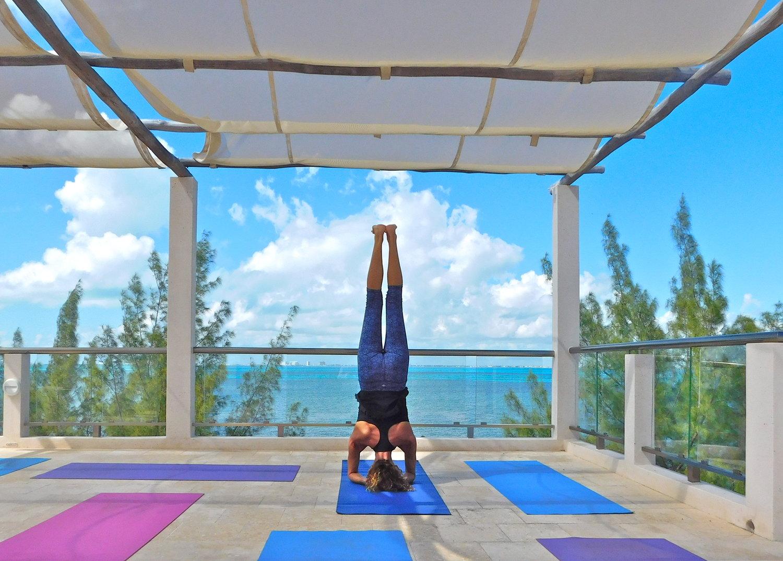Encantada Yoga Palapa Headstand