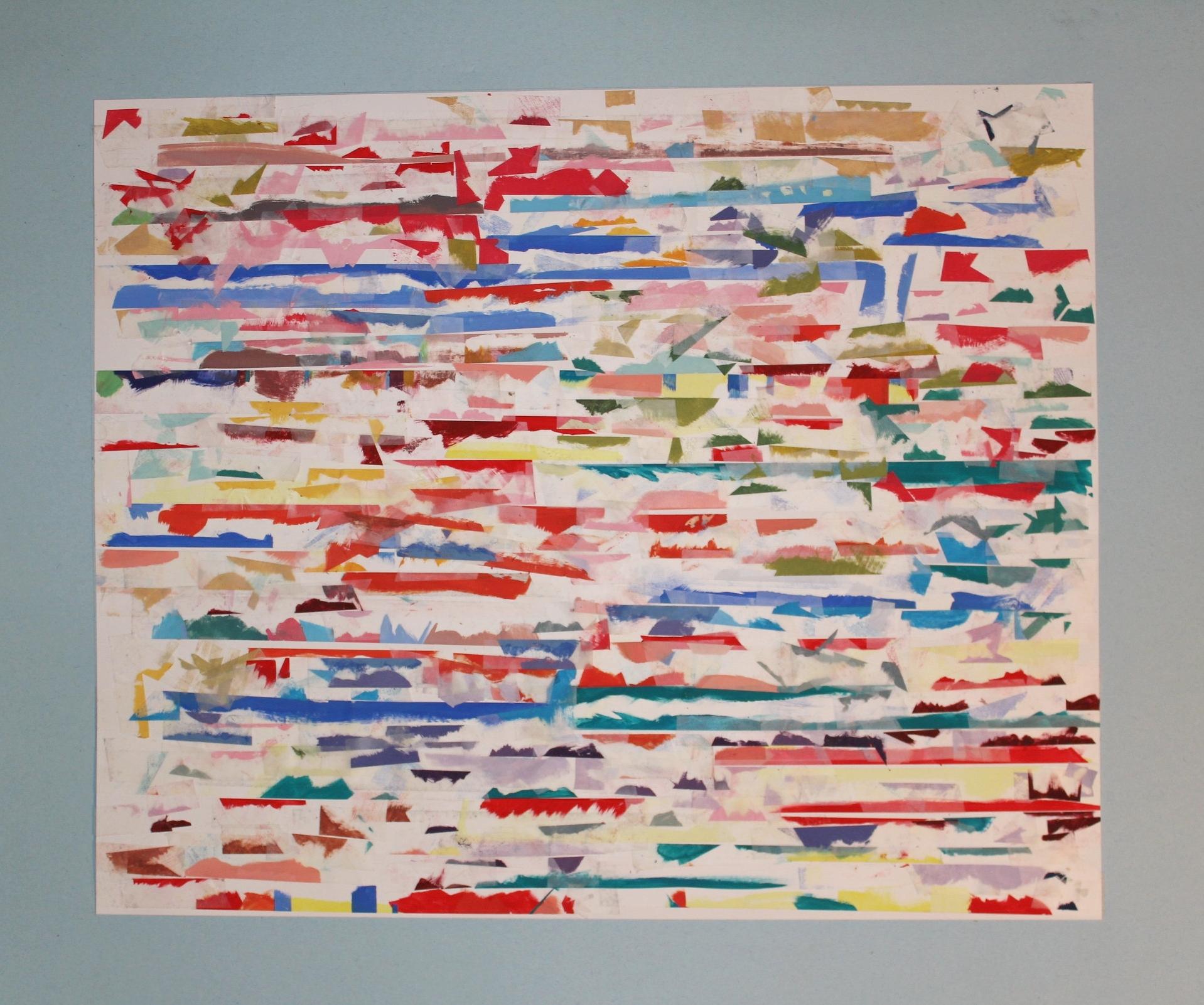 """Color Study of Color Studies 28""""x12""""  NFS"""