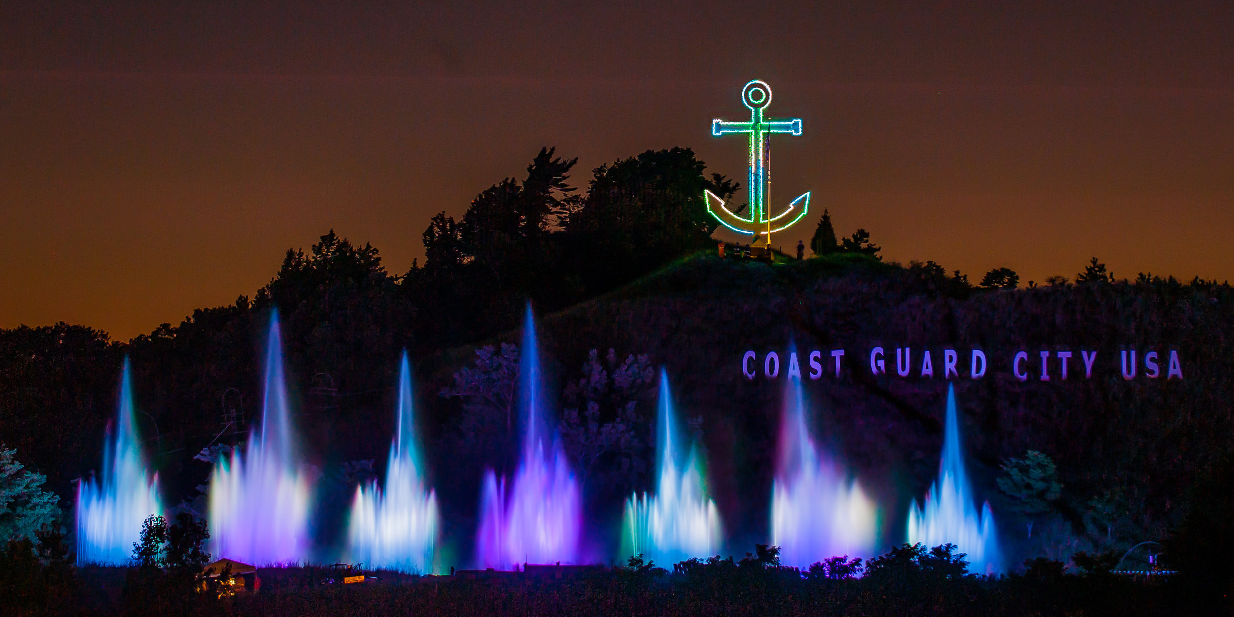 The Musical Fountain plays every night each summer! Photo credit:  Grand Haven Musical Fountain