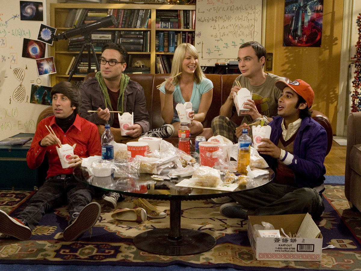 Pull a Dr. Sheldon Cooper and order your favorite takeout to enjoy on your favorite couch.
