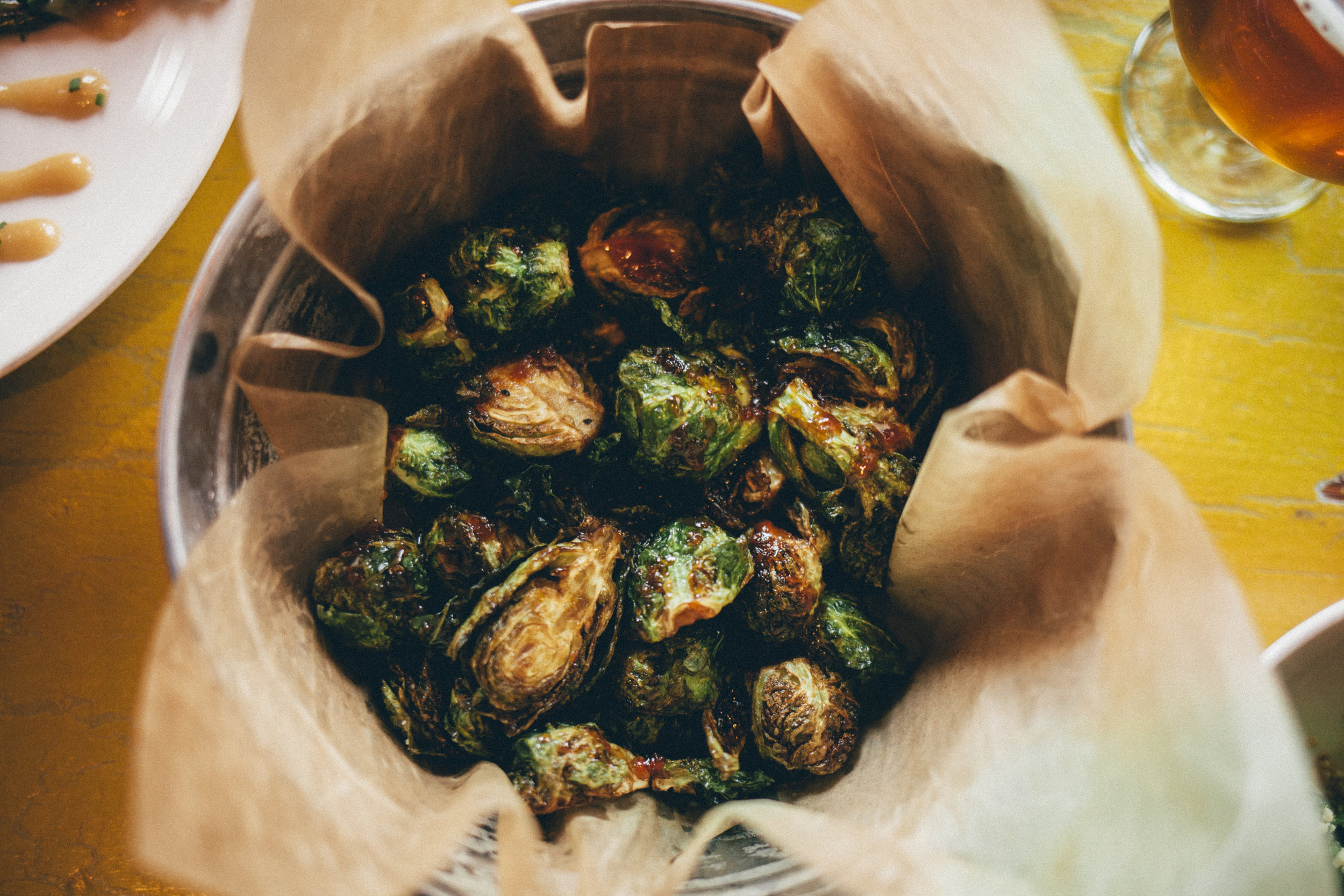 Bostwick Lake Inn's Crispy Brussels Sprouts are like the candy of vegetables. They're THAT good.