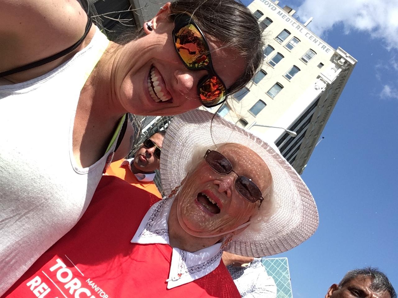 oldest TORCH bearer 2017 canada summer games Jean Morrison, 95