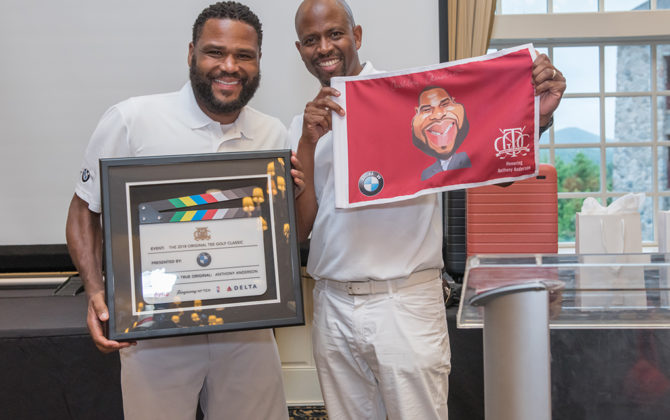 Anthony Anderson, actor, and Wendell Haskins, BMW