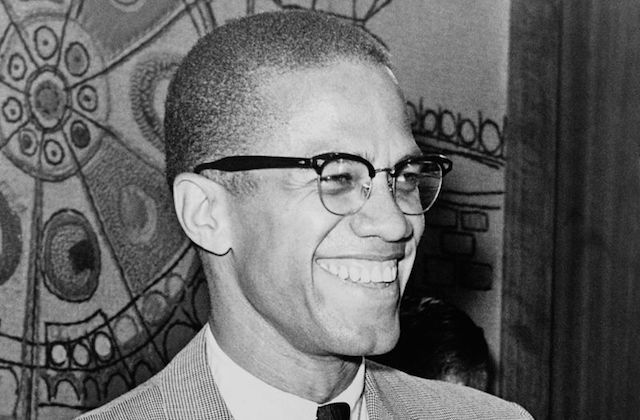 An archival photograph of Malcolm X, downloaded from Wikimedia Commons on July 27, 2018.      Photo:      Library of Congress/Sourced via Wikimedia Commons