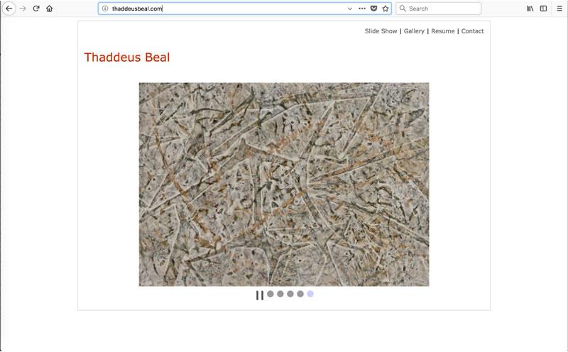Thaddeus Beal - Client: ArtistMade with Dreamweaver