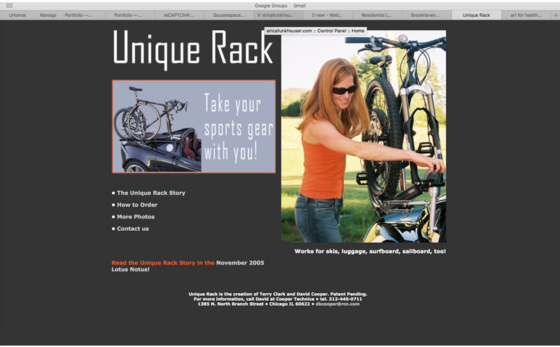 Unique Rack - Client: EntrepreneurMade with Dreamweaver