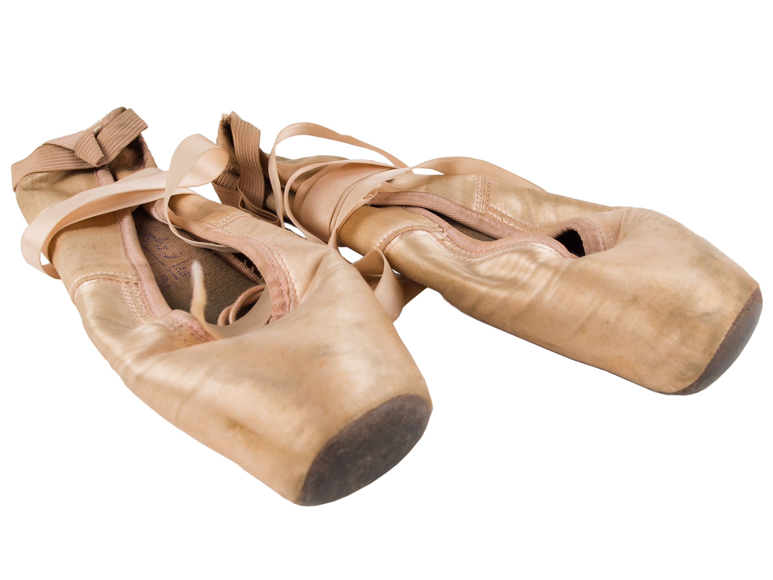 Candida Royalle's ballet shoes, 1965, and diary, 1971–1974