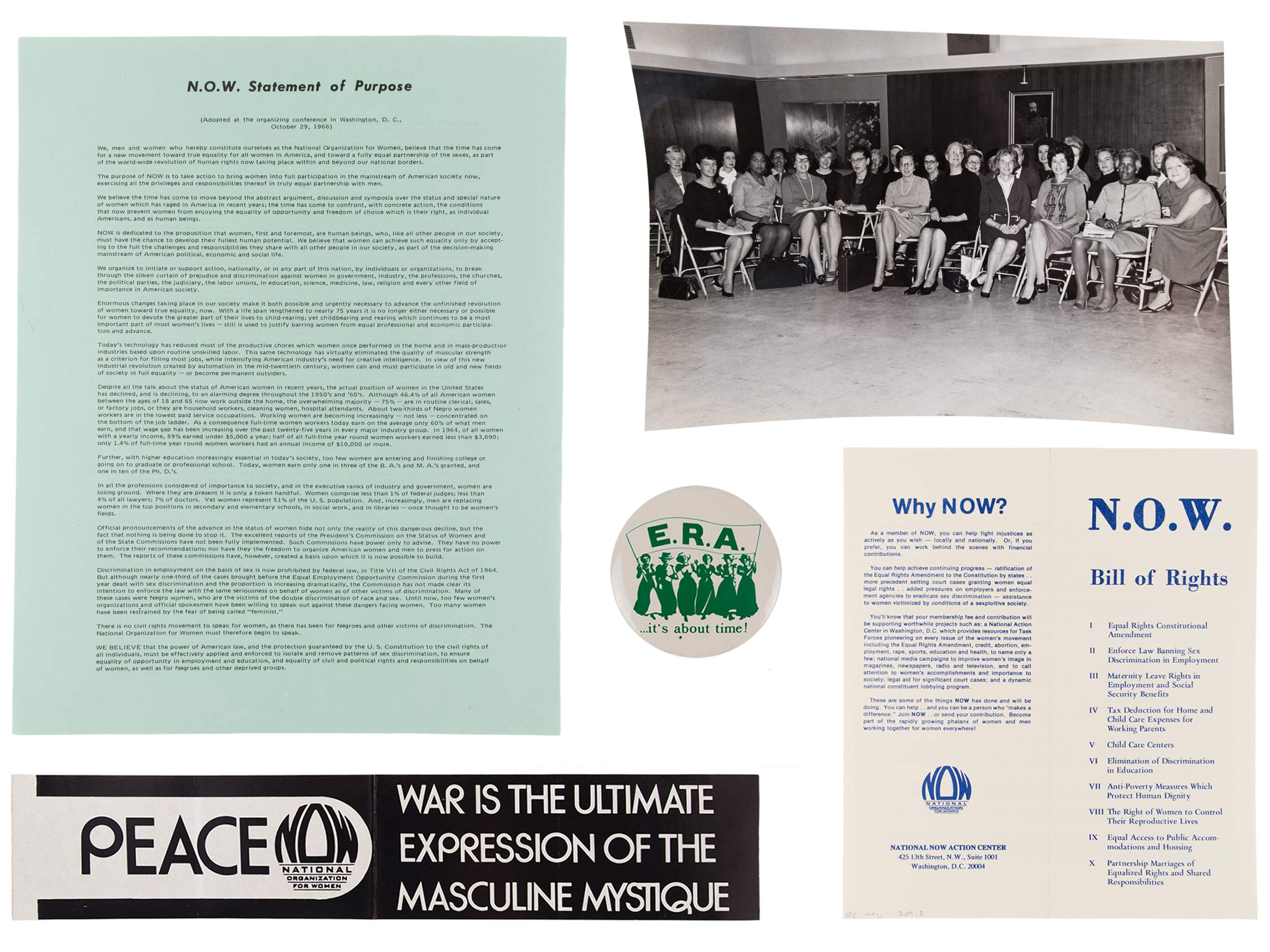 National Organization for Women (NOW) founding documents, 1966–1968