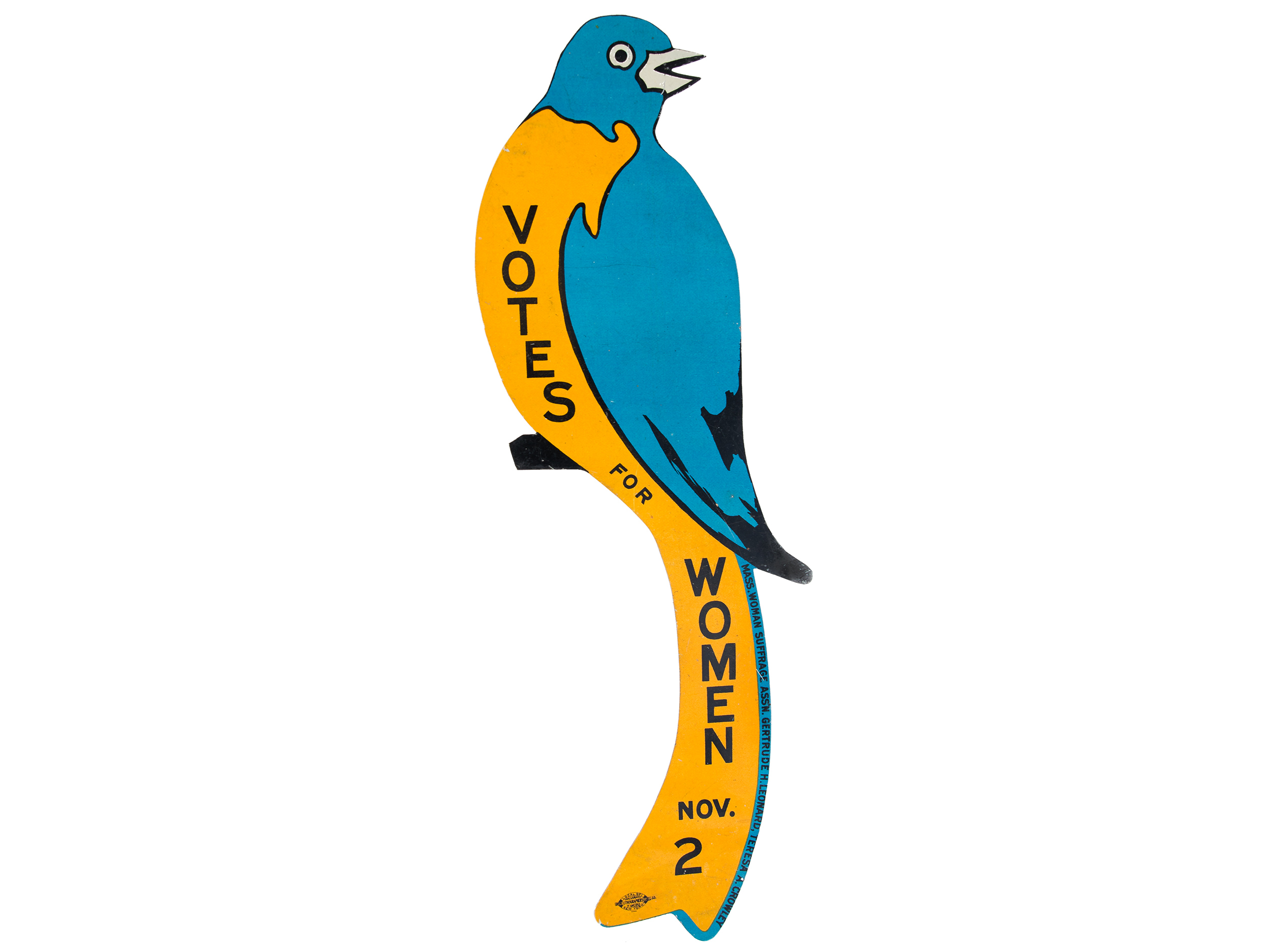 Metal suffrage bluebird, 1915