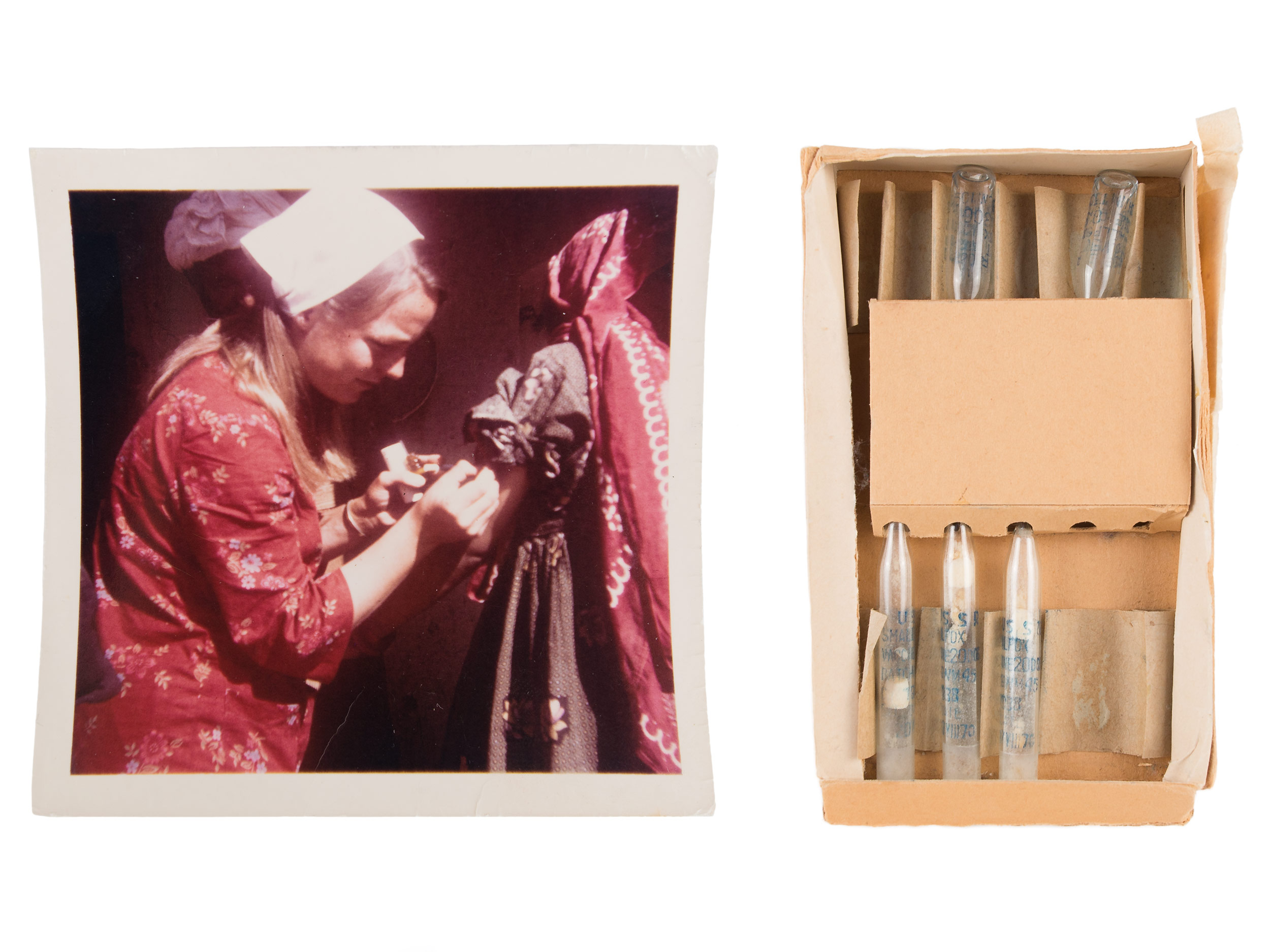 Vials of smallpox vaccine, ca. 1969–1970