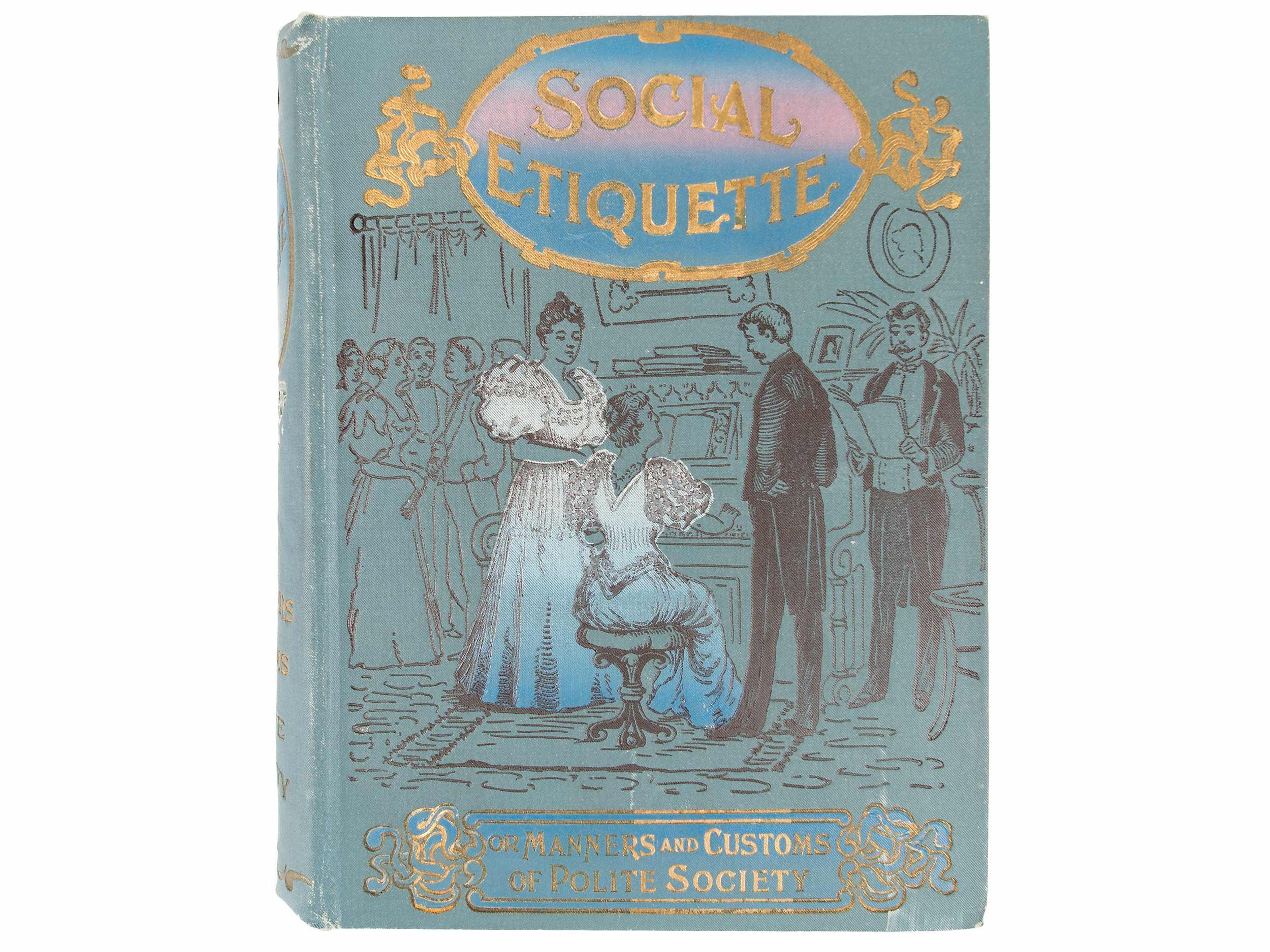 Etiquette book, 1896
